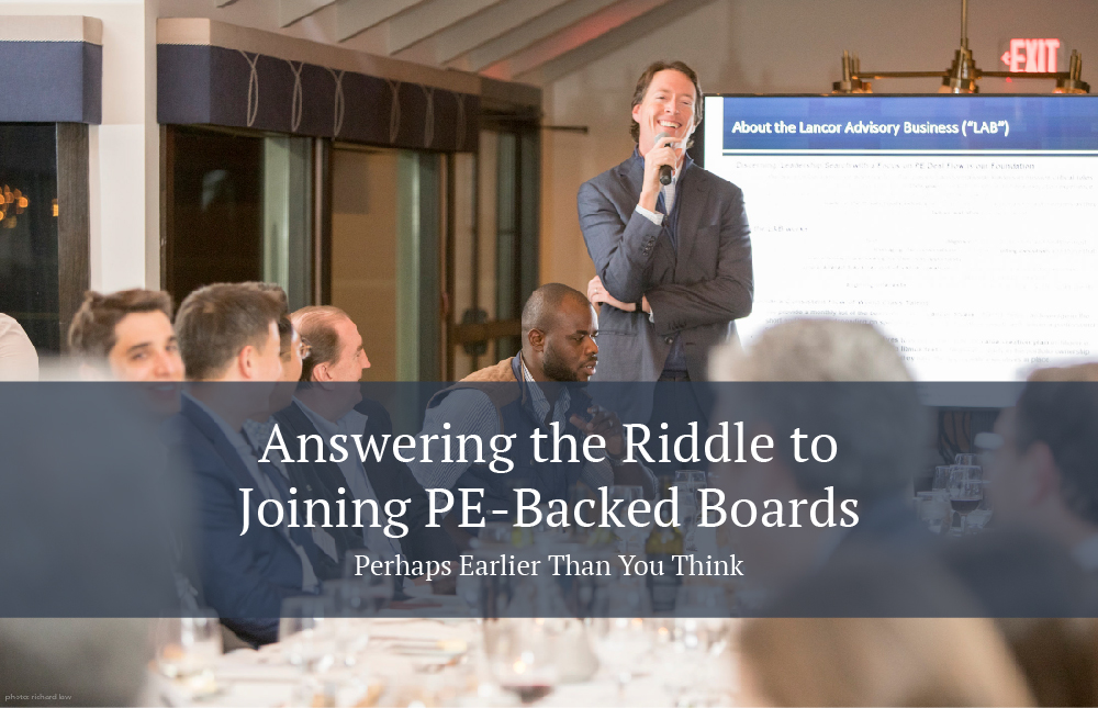 How to join PE-Backed Boards